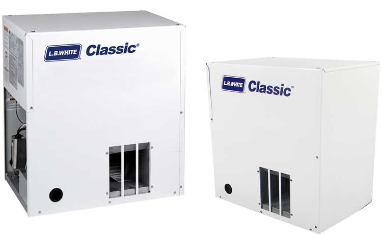 L.B. White Classic Forced Air Heaters for Hog Buildings