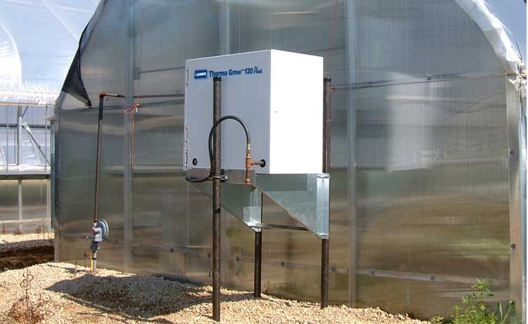 Therma Grow forced air heater used for a greenhouse facility.
