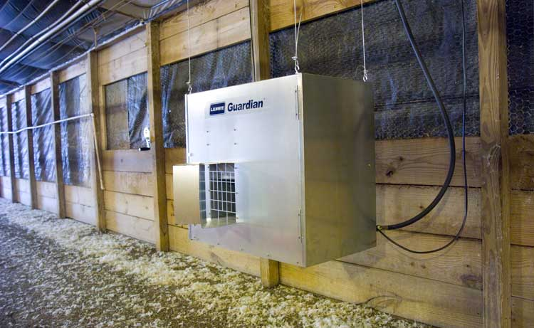 Guardian Forced Air heater at a poultry facility.